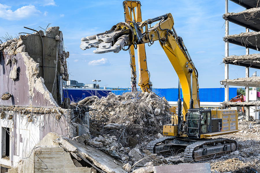 demolition of the commercial building
