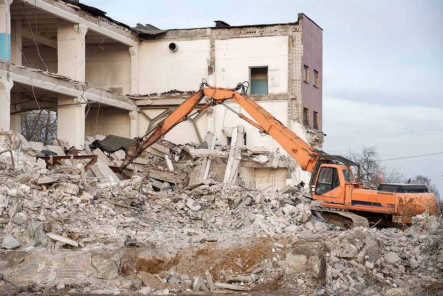 demolition of the building