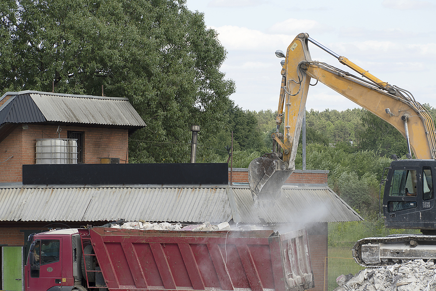 demolishing the area for clean up