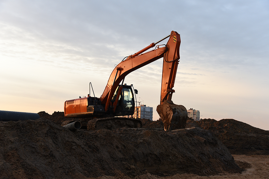 excavating the land for commercial