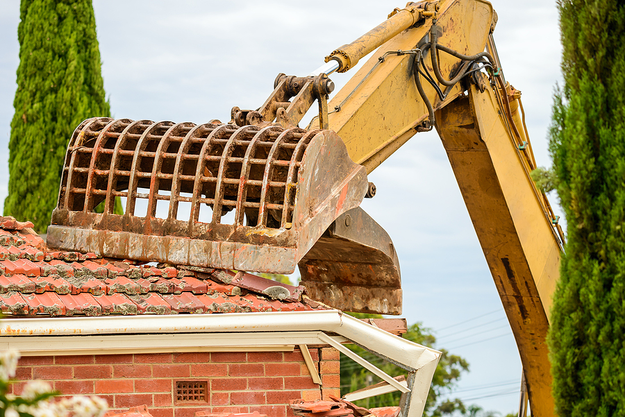 demolition of the residential area